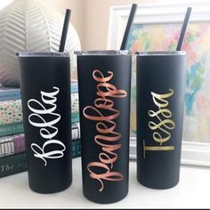 Skinny Tumbler- Stainless Steel Tumbler Personalized - Tumbler with Straw and Lid - Teacher Gift Per Personalized Tumblers, Custom Tumblers, Personalized Items, Bridesmaid Proposal, Bridesmaid Gifts, Bridesmaids, Bride Gifts, Wedding Gifts, Grandpa Birthday Gifts