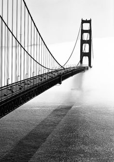 ahsah:  A couple of days ago the entrance into San Francisco was completely shrouded in fog.
