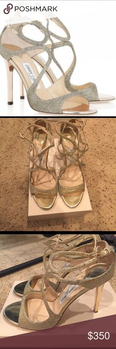 """Jimmy Choo """"Lang"""" BNWOB size 41. Jimmy Choo """"Lang"""" BNWOB size 41, there a few minor knicks from sitting out on display since it was the last pair see photos. No trading no modeling Jimmy Choo Shoes Heels"""