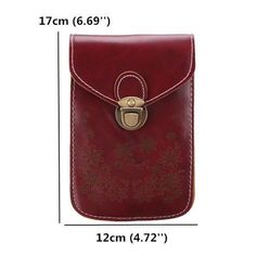 Women Vintage Flower Pattern Mini Crossbody Bag is designer, see other cute bags on NewChic. Crossbody Messenger Bag, Mini Crossbody Bag, Leather Purses, Leather Handbags, Pu Leather, Leather Wallet Pattern, Designer Shoulder Bags, Leather Bags Handmade, Leather Projects
