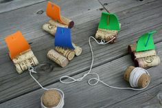 Sailing boats made with cork -