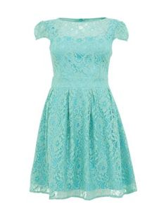 Lydia Rose Bright Mint Green Georgia Skater Dress