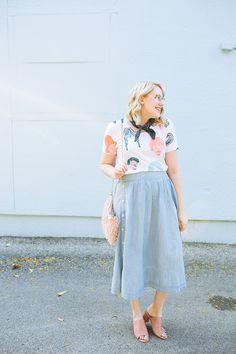 austin style blogger writes like a girl chambray madewell midi skirt3