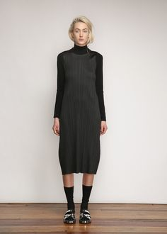 dde654e174cd1 Issey Miyake PLEATS PLEASE Tank Dress (Black)