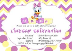 Daisy Baby Shower Invitations Shower. Custom Request Only, $30.00