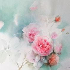 Hi... Everyone, have a nice day!  #watercolor #flower #paint #painting #art…