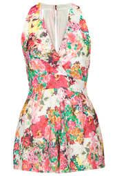**Floral Pleat Playsuit by Love