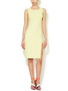 Front Slit Fitted Tank Dress by Susana Monaco at Gilt