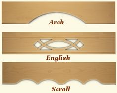 Matching Custom Wood Valances  good price