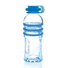 Glass Water Bottle Blue