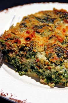 Creamed Spinach with Lamb and Roasted Garlic - keviniscooking.com