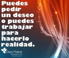 ¿QUÉ DECIDES?... (((Sesiones y Cursos Online www.ciaramolina.com #psicologia #emociones #salud)))