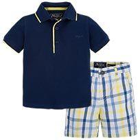 Polo Shirt and Checked Bermuda Set