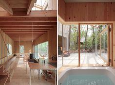 Year-Round Ski Home in Hakuba, Japan by Naka Studio - minimal kitchen, enclosed soaking tub on porch
