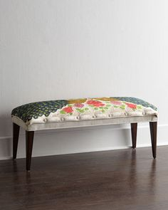 Cream Peacock Bench by Haute House at Neiman Marcus. $1500 for dining room?