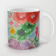 Imagined taste of Grenada in a cup. Water-colors in your hands.