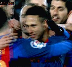 GIF ~ I love the way he hugs Messi