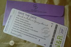 Save the Date Boarding Pass.