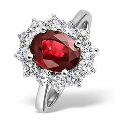 Platinum Ruby 2.40ct And Diamond 1.00ct Ring - Item FET27-TS