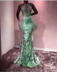elegant halter prom dress,lace prom dress,mermaid prom dress,mermaid evening gowns,prom dresses 2018