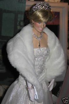 Princess Diana Dolls for Sale | Princess Diana doll in white fur | Dolls