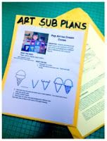 Art sub plan ideas, yes I have dragged myself to school early and sick to leave plans.