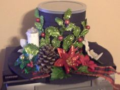 pinterest frosty snowman hats | Gallon tin can Frosty The Snowman Hat that is fillable with homemade ...