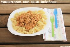 Macarrones con salsa boloñesa | Cocinando en un rincón del mundo