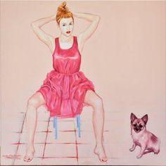 Ophelia. Love. 2014: acrylic and oil on canvas; 100x100.