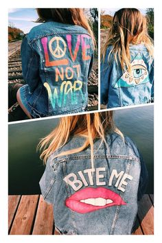 Hand Painted Jean Jacket Custom Order