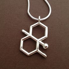 geosmin necklace scent of rain by molecularmuse on Etsy