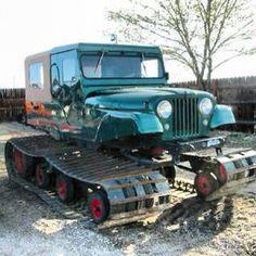 Jeep CJ6 Snowcat. #followthesnowcat #rarebeast #jeep