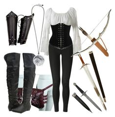 A fashion look from January 2012 featuring peasant blouses, legging pants and lace boots. Browse and shop related looks. Fandom Outfits, Komplette Outfits, Cosplay Outfits, Casual Outfits, Fashion Outfits, Fashion Women, Women's Fashion, Elf Kostüm, Mode Halloween
