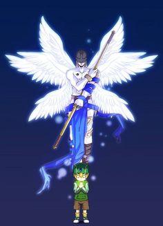 Takeru and Angemon