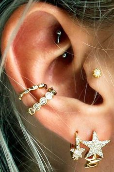 Explore the most popular types of ear piercings, from  ear piercings minimalist to multiple ear piercings and ear piercings unique.    #glaminati #lifestyle #earpiercings