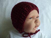 Babymütze Merinowolle 35-38cm Mütze gestrickt Baby