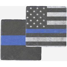 Thin Blue Line Marble Coasters American Flag Solid ($30) ❤ liked on Polyvore featuring home, kitchen & dining, bar tools, blue, coasters, drink & barware, drinkware, home & living, beverage coaster and drink coasters