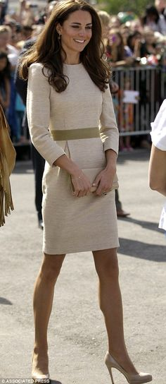 Duchess loves her nude courts but also favours wedges