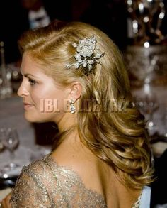 Princess Madeleine of Sweden hair jewel