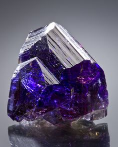 Tanzanite - look at that beautiful purple buried deep inside! <3