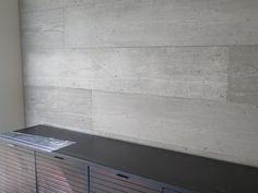 Urban grey timber effect wall panels.