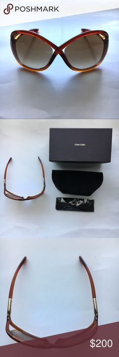 Tom Ford brick red Whitney oversized sunglasses -In excellent condition and includes case and wipe -Logo at lens cornet and arm tips -100% UV protection Tom Ford Accessories Sunglasses