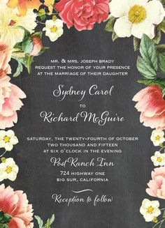6 Totally Fab Floral Invites (and Save the Dates!) for Your Garden Wedding - Story by ModCloth