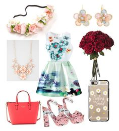 """""""Flowers inspired by rainbowcutie1"""" by miamartinez1210 ❤ liked on Polyvore featuring Giamba, Kate Spade, Mixit, Full Tilt and Casetify"""
