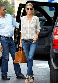 Heidi Klum Snapped in Citizens of Humanity - http://denimology.com/2014/07/heidi-klum-snapped-citizens-humanity