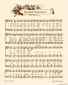 Blessed Assurance Jesus is mine! One of my favorite hymns. Praise Songs, Worship Songs, Praise And Worship, Church Songs, Church Music, Gospel Music, Music Lyrics, Partition, Christian Songs