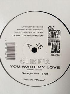 Olimpia - You Want My Love