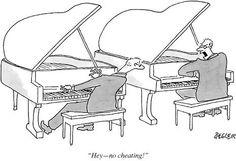 Piano humor.