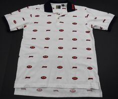 Chilliwear Auburn Tigers Short Sleeve Polo Shirt Mens Medium M All Over Print #Chilliwear #AuburnTigers