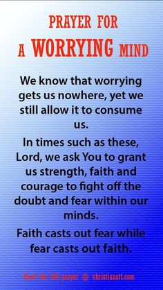 Prayer For A Worrying Mind